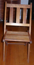 Vintage Wood Child's Folding Chair