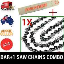 "12"" BAR & 1 CHAINS COMBO 3/8""LP 050 45DL FOR OZITO CHAINSAW PCS-305A 25.4CC"