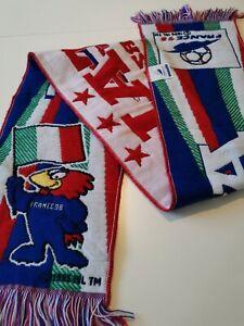 rare echarpe  de football france 98  italie  vintage  footix italia scarf