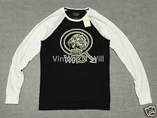Lucky BRAND The Who Lion Raglan Long Sleeve Tour Concert Shirt Rock Distressed Regular L