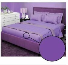Bedsheet Fitted Sheet Cover Linen Collection with Pillowcase - (KING) - VIOLET
