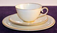 Krautheim Elfenbein/gold, Kaffeegedeck 3-teilig, Teegedeck 3-teilig