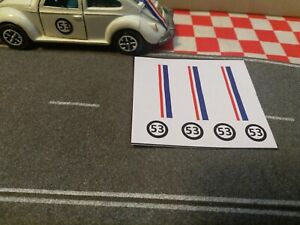 Dinky,Corgi,Matchbox,Hotwheels.1/43 Scale V,W Herbie Love Bug Custom Stickers