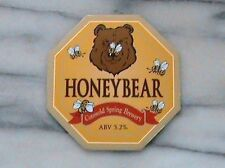 COTSWOLD SPRING HONEY BEAR REAL ALE BEER PUMP CLIP SIGN