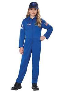 Kids Blue Jumpsuit Costume NASA
