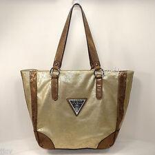 GUESS Large TOTE Shopper NWT ME324525 Star Metal GOLD Bag Purse Handbag NEW $115