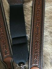 0a71ca2f278 Nocona Western Mens Suspenders Galluse Leather Tooled Tan N8513008 M