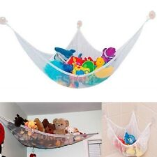 US Toy Hammock Net Organizer Corner Stuffed Animals Kids Hanging Storage Bath GW
