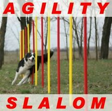 !AGILITY-SLALOM-SET ROT/GELB FLEXIBLE,RUNDE STANGEN! ORIGINAL WUZZMANN
