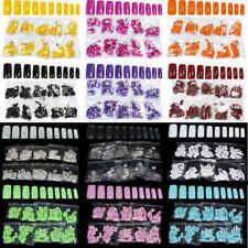 500Pcs False Fake UV Gel Full Acrylic Artificial Nail Art Tips Kits French Style