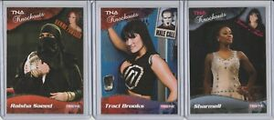 2009 TRISTAR TNA KNOCKOUTS LOT (3) GOLD PARALLEL INSERTS #'D /10 TRACI BROOKS