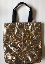 Victoria's Secret Gold Love Tote Bag Quilt Metallic