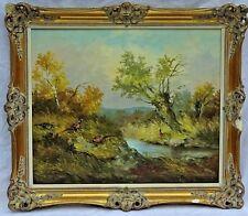 "Elisabeth Paetz-Kalich (German,b.1925) Original Oil Painting ""Pheasants"" Dresden"