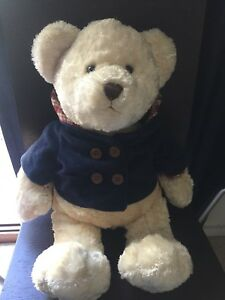 Cream Sherpa Fleece Teddy Bear With  Hooded Jacket 48cm Tall