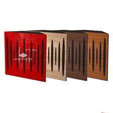 (2 Pack) 50x50x10cm Corner Acoustic Bass Traps, [front - laminated wood]