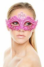 Elegant Fuchsia Half Face Mask Masquerade/Venetian PM001FS USA SELLER
