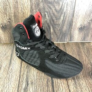 Otomix Womens Stingray Escape Black Red Bodybuilding Weightlifting MMA Shoes 6.5