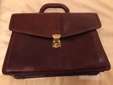 VALENTINA IN PELL Italian Leather Doctor Lawyer Attache Bag Briefcase Mens