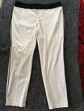 Pants White With Black Side Stripe Down Side Seams Size US 14 Calvin Klein New