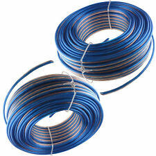 2x 100'ft feet 2 Cable 16 awg ag Gauge Blue Speaker Wire 200 FT Total Free Ship