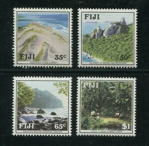 1991 Fiji Postage Stamps #637-640 Mint MNH VF Set Nature Reserve Forest Park