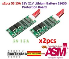 2pcs 5S 15A Li-ion Lithium Battery BMS 18650 18V 21V Charger Protection Board