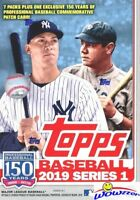 2019 Topps Series 1 Baseball EXCLUSIVE Blaster Box-150th Anniversary PATCH RELIC