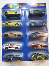 HOT WHEELS 10 CAR PACK PORSCHE CORVETTE TOYOTA SHELBY CAMARO DATSUN MONOPOSTO