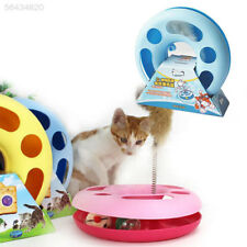 D8E7 Pet Cat Creative Moving Mouse Spring Mice Turntable Disk Activity Toy