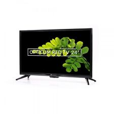 """Opticum Travel LED TV 24"""" Zoll Camping Fernseher -S2/-T2/-C HD PVR 12/24/230V LE"""