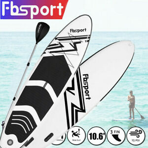 Paddle Board SUP 10.6' Inflatable Sports Surf Stand Up Racing Bag Pump Oar Water