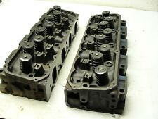 REBUILT PAIR OF 1972 FORD D1ZE 351 CLEVELAND 4V OPEN CHAMBER CYLINDER HEADS