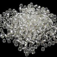 Rocailles Perlen 4mm 6/0 Crystal Silbereizung 450g Glasperlen Schmuck BEST A205