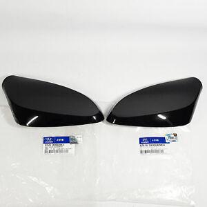 Side Mirror Cover Garnish Left Right 2ea Black For HYUNDAI Elantra MD 2011-2016