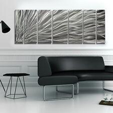 Modern Metal Abstract Silver Wall Art Sculpture Original Home Decor by Jon Allen