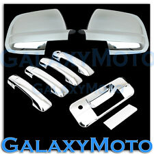 07-12 TOYOTA TUNDRA CREW MAX Mirror+Chrome 4 Door Handle no PSGKH+Tailgate Cover
