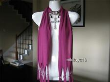 Purple Fashion Jewelry Scarf w Decoration Cross Necklace Pendant B