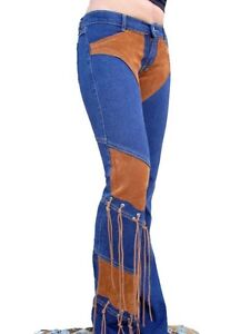 BRAZILIAN STRETCH JEANS WITH SUEDE FRINGE