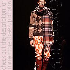 NWT Bernhard Willhelm Tangas Drapey Length Woven Virgin Wool Loose Pants S-M