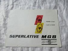 1964 MG MGB superlative brochure