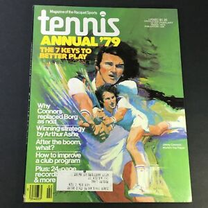 VTG Tennis Magazine February 1979 Vol 14 #10 Jimmy Connors World's Top Player