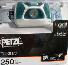 Petzl Stirnlampe Tikkina, Color Türkis / Weiß, 250 Lumen, Kopflampe, Headlight
