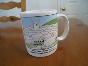Far Side Coffee Mug Listen We Dont Have To Be Just Sheep Gary Larson 1982