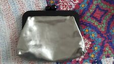 Vintage Boden large silver leather purse clutch