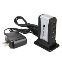 New 7 Port High Speed USB 2.0 HUB with AC Power Adapter for PC Laptop Durable