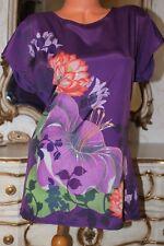 (S1)   NEXT Purple Floral Elasticated Back Ladies Mini Dress tunic size 10
