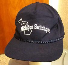 MICHIGAN SWITCHGEAR baseball hat NETA vtg snapback cap electrical testing 1980s