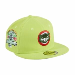New Era 59Fifty Chicago Cubs Gum Pack 7 1/4 Neon Green Double Mint 1990 All Star