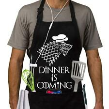 Grill Aprons Kitchen Chef Bib - Famgem Dinner is Coming Professional for Bbq,