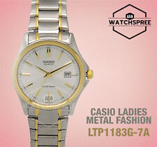Casio Ltp1183g-7a Ladies Silver Gold Tone Casual Stainless Steel Dress Watch